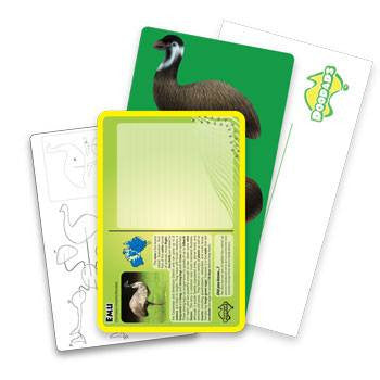 Australian Made Gifts & Souvenirs with the Emu 3D Construction Postcard -by Odd Ball. For the best Australian online shopping for a Accessories - 3