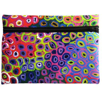 Australian Made Gifts & Souvenirs with the Zipped Case - Artist Lena Pwerle -by Utopia. For the best Australian online shopping for a Note Pads