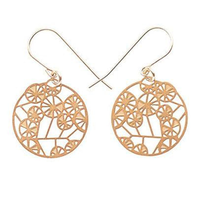 Gold Wattle Earrings - Tiny