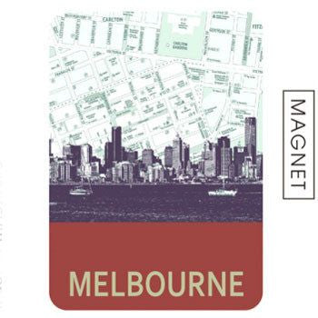 Australian Made Gifts & Souvenirs with the Melbourne Skyline Magnet -by Mokoh Design. For the best Australian online shopping for a Accessories