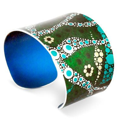 Australian Made Gifts & Souvenirs with the Willie Creek Bracelet Cuff -by Occulture. For the best Australian online shopping for a Jewellery