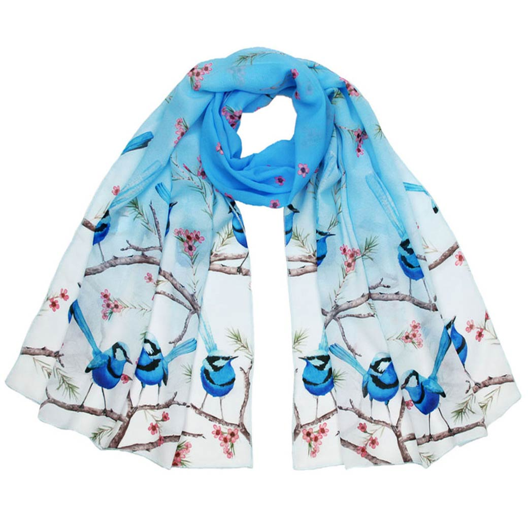 Australian scarves - blue wren design