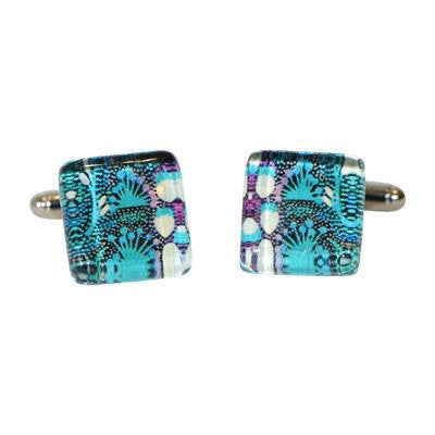 Australian Made Gifts & Souvenirs with the Blue Bush Tucker Cufflinks -by Simone Dennis. For the best Australian online shopping for a Jewellery