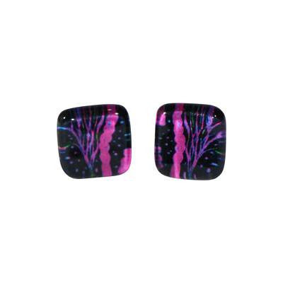 Australian Made Gifts & Souvenirs with the Black & Pink Bush Tucker Stud Earrings -by Simone Dennis. For the best Australian online shopping for a Jewellery - 1