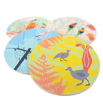 Australian Made Gifts & Souvenirs with the Wings Coaster Pack -by Mokoh Design. For the best Australian online shopping for a Accessories - 2