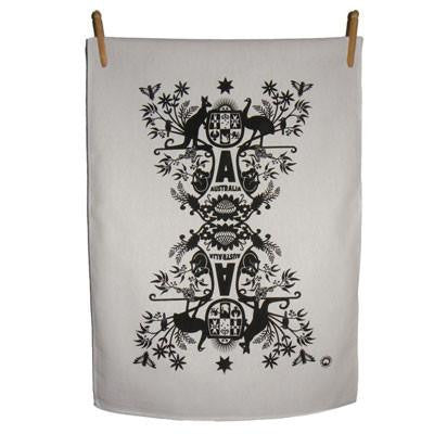 Australian Made Gifts & Souvenirs with the Australian Coat of Arms Tea Towels -by Kirsten Haworth Textiles. For the best Australian online shopping for a Souvenirs