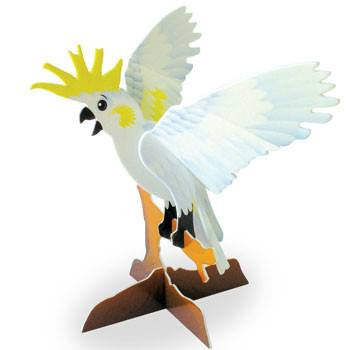 Australian Made Gifts & Souvenirs with the Cockatoo 3D Construction Postcard -by Odd Ball. For the best Australian online shopping for a Accessories - 1