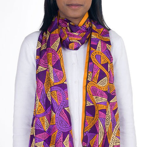 Limited Edition Aboriginal Silk Scarf
