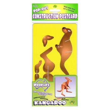 Australian Made Gifts & Souvenirs with the Kangaroo 3D Construction Postcard -by Odd Ball. For the best Australian online shopping for a Accessories - 2