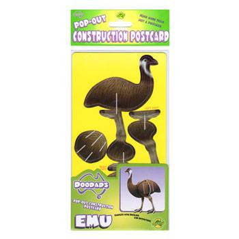 Australian Made Gifts & Souvenirs with the Emu 3D Construction Postcard -by Odd Ball. For the best Australian online shopping for a Accessories - 2