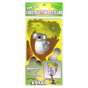Australian Made Gifts & Souvenirs with the Koala 3D Construction Postcard -by Odd Ball. For the best Australian online shopping for a Accessories - 2