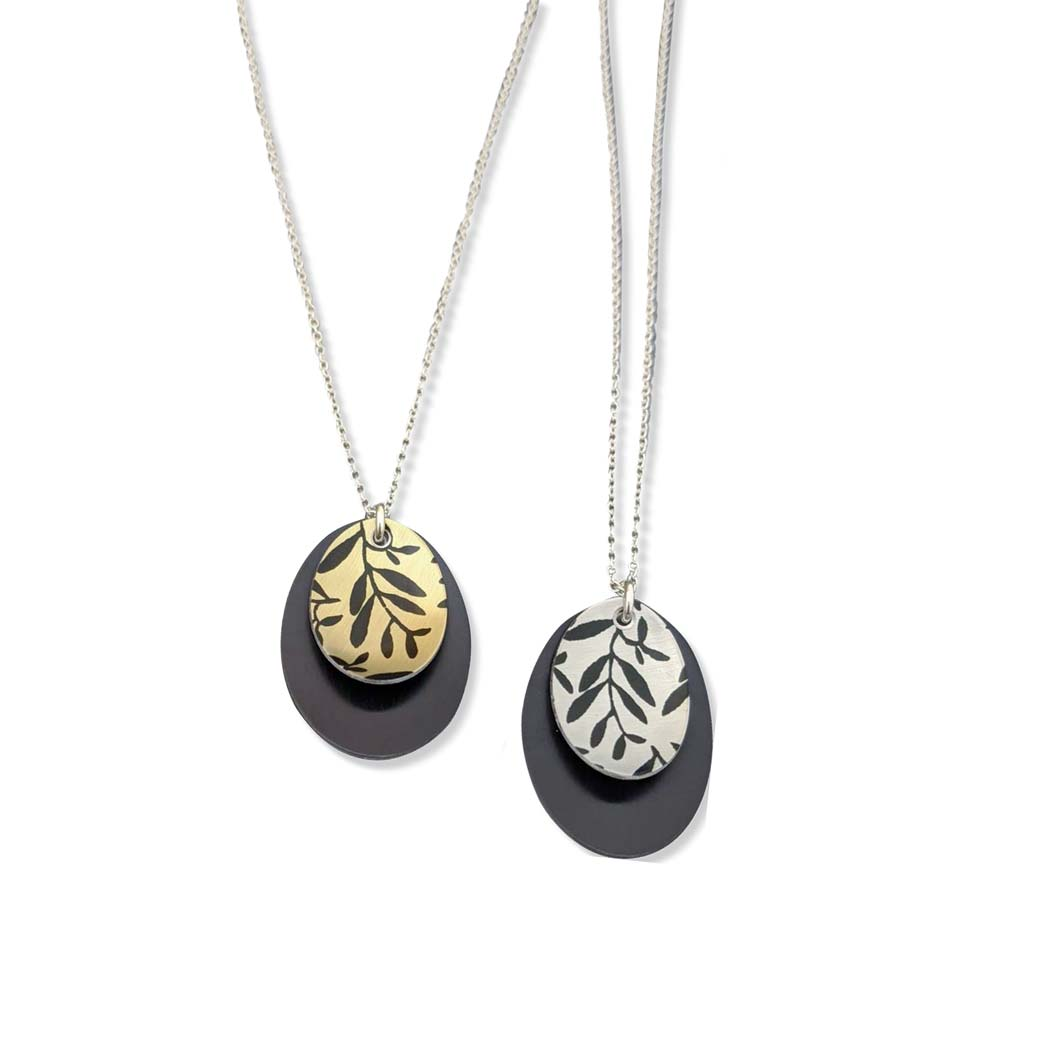 Foliage Small Oval Necklaces
