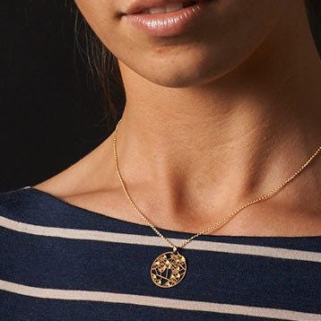 Australian Made Gifts & Souvenirs with the Wattle Gold Pendant -by Polli. For the best Australian online shopping for a Jewellery - 1