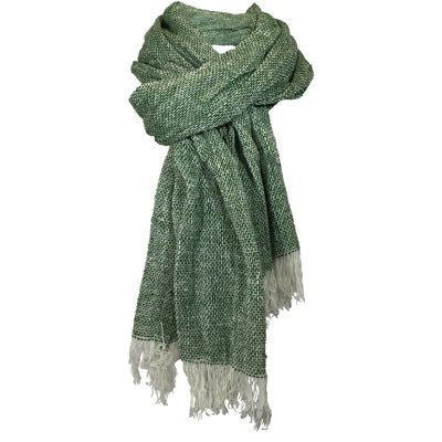 Forest Green Merino Loose Weave Scarf
