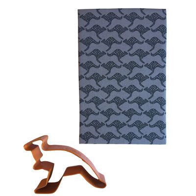 Australian Made Gifts & Souvenirs with the Grey Kangaroo Handkerchief -by Hanky Fever. For the best Australian online shopping for a Handkerchief