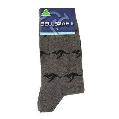 Australian Made Gifts & Souvenirs with the Mens Kangaroo Socks Charcoal -by Bellbrae. For the best Australian online shopping for a Socks - 1