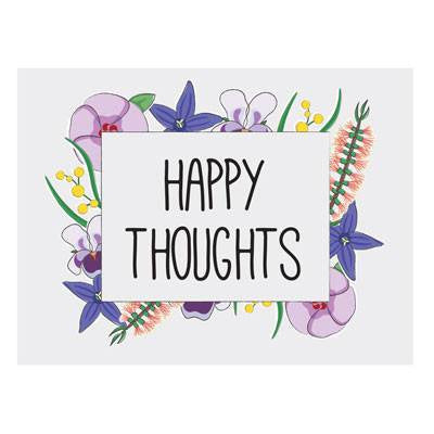 Australian Made Gifts & Souvenirs with the Happy Thoughts Magnet -by Bits of Australia. For the best Australian online shopping for a Magnets - 1