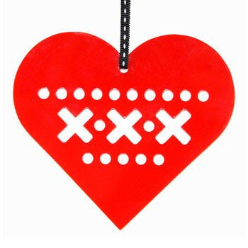 Australian Made Gifts & Souvenirs with the Red Heart Decoration -by Scoops. For the best Australian online shopping for a Fun