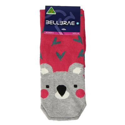 Australian Made Gifts & Souvenirs with the Womens Koala Socks Pink -by Bellbrae. For the best Australian online shopping for a Socks - 2