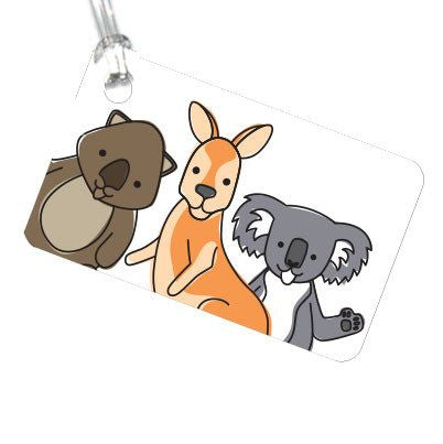 Australian Made Gifts & Souvenirs with the Aussie Animals Luggage Tag -by Bits of Australia. For the best Australian online shopping for a Luggage Tag - 1