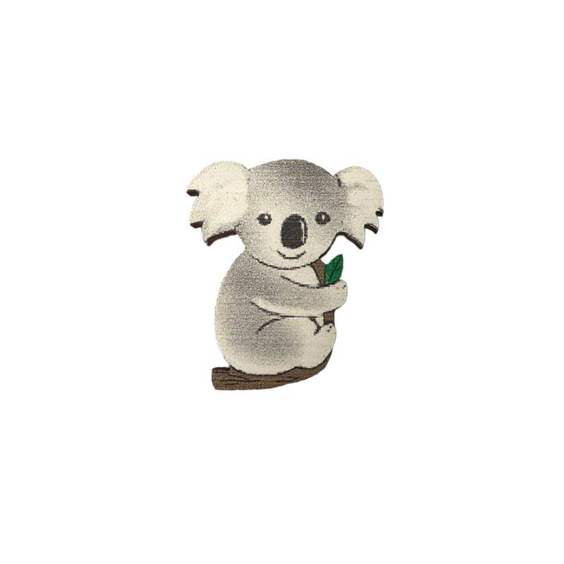Koala Wooden Brooch Australian Gifts for Kids