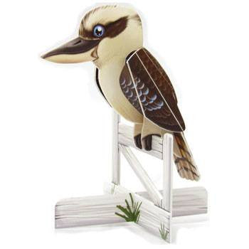 Australian Made Gifts & Souvenirs with the Kookaburra 3D Construction Postcard -by Odd Ball. For the best Australian online shopping for a Accessories - 1
