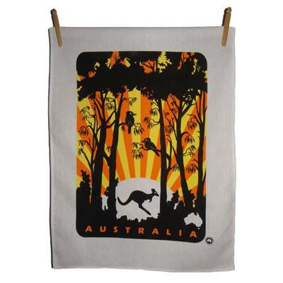 Kookaburra Sunset Tea Towels