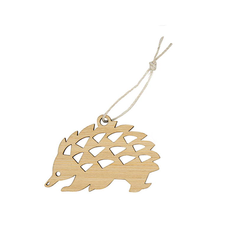 mini echidna bamboo decoration Australian made