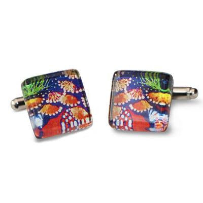 Australian Made Gifts & Souvenirs with the Bush Tucker Cufflinks -by Simone Dennis. For the best Australian online shopping for a Jewellery - 1