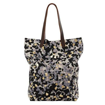 Black & Gold Confetti Oversized Tote Bag