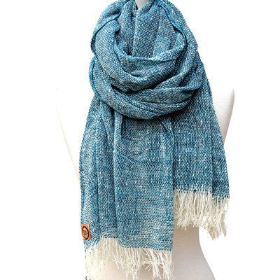 Australian Made Gifts & Souvenirs with the Peacock Merino Loose Weave Scarf -by The Spotted Quoll. For the best Australian online shopping for a Scarves