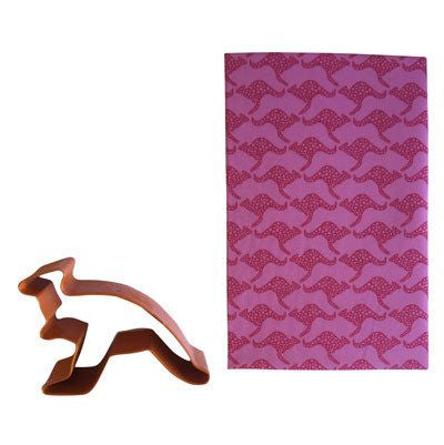 Australian Made Gifts & Souvenirs with the Pink Kangaroo Handkerchief -by Hanky Fever. For the best Australian online shopping for a Handkerchief