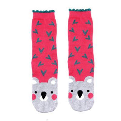 Australian Made Gifts & Souvenirs with the Womens Koala Socks Pink -by Bellbrae. For the best Australian online shopping for a Socks - 1