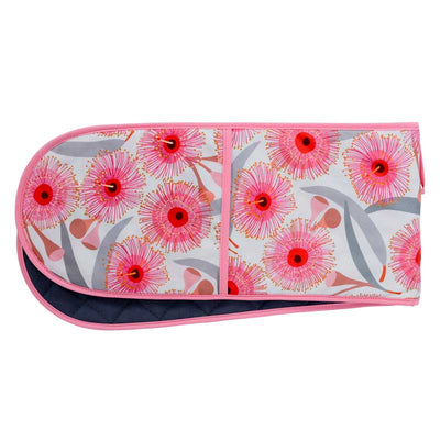Double Oven Mitt Pink Gum Blossom