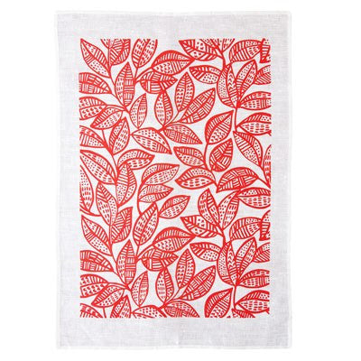 Australian Made Gifts & Souvenirs with the Red Ku-ring-gai Bushland Tea Towel -by Maya Muse. For the best Australian online shopping for a Homewares