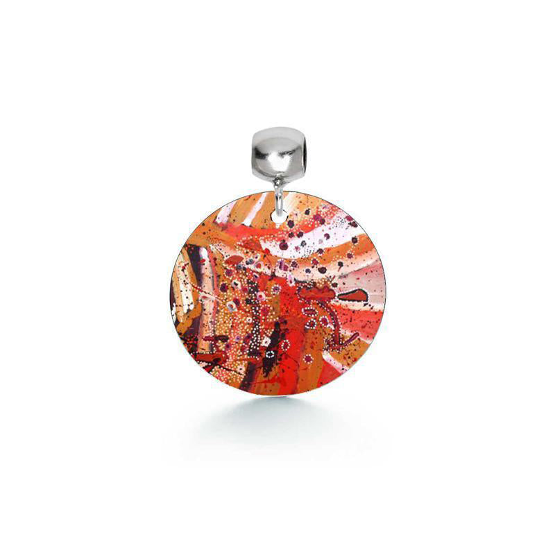 Red Aboriginal Art Pendant Unique Gifts for Chinese New Year from Australia