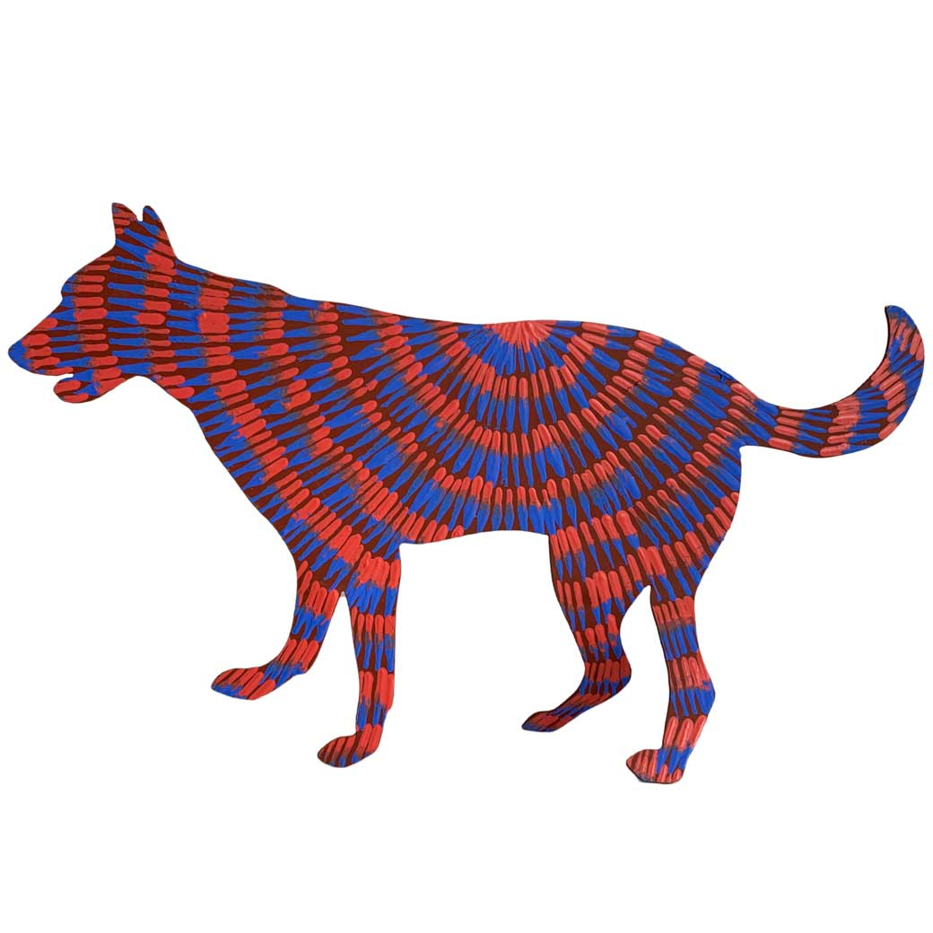 Unique Australian Gifts for the Home Aboriginal Hand Painted Dog Sculpture