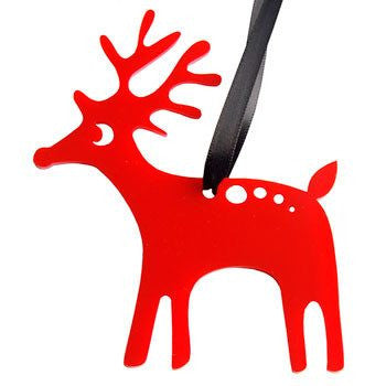 Australian Made Gifts & Souvenirs with the Red Reindeer Decoration -by Scoops. For the best Australian online shopping for a Fun