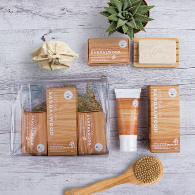 Australian Made Gifts & Souvenirs with the Sandalwood Gift Pack -by The Linen Press. For the best Australian online shopping for a Skincare - 2