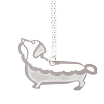 Australian Made Gifts & Souvenirs with the Sausage Dog Pendant & Chain -by Polli. For the best Australian online shopping for a Accessories - 1
