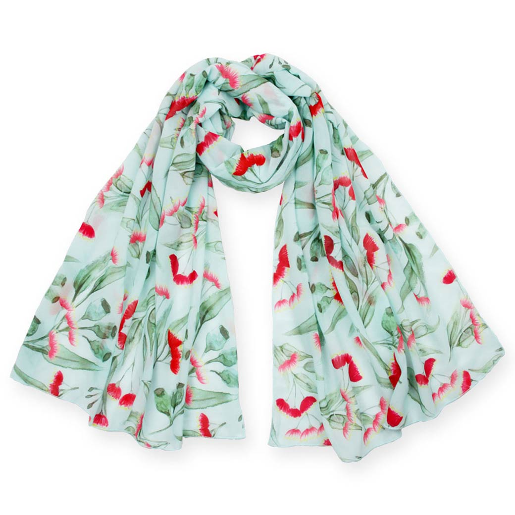 Gifts for her - Australian gum blossom scarf
