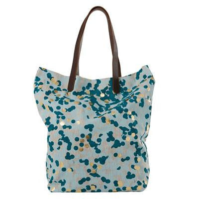 Australian Made Gifts & Souvenirs with the Spearmint & Gold Confetti Oversized Tote Bag -by Tinker. For the best Australian online shopping for a Bags