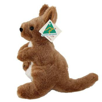 Australian Made Gifts & Souvenirs with the Large Kangaroo & Joey -by Ocean Yeun. For the best Australian online shopping for a Soft Toys - 1