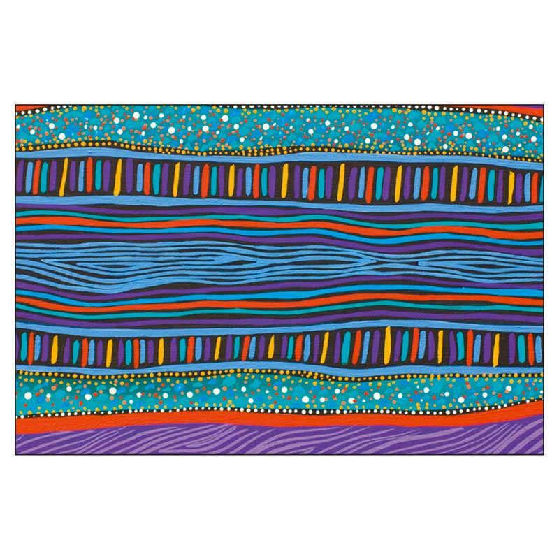 Aboriginal Art Worimi Barray Magnet