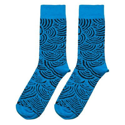 Australian Made Gifts & Souvenirs with the Blue Aboriginal Artwork Socks -by Alperstein Designs. For the best Australian online shopping for a Socks - 1