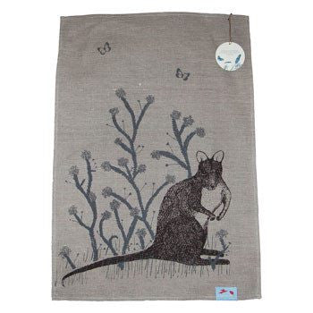 Australian Made Gifts & Souvenirs with the Wallaby Tea Towel -by Laughing Bird. For the best Australian online shopping for a Tea Towels - 1