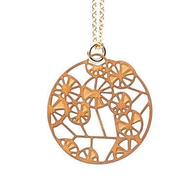 Australian Made Gifts & Souvenirs with the Wattle Gold Pendant -by Polli. For the best Australian online shopping for a Jewellery - 2