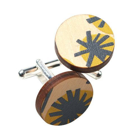 Australian Souvenirs for Men with wattle inspired cufflinks