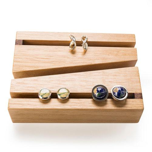 Wooden Cufflinks Holder