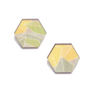 Australian Made Gifts & Souvenirs with the Wattle Wooden Studs -by Polli. For the best Australian online shopping for a Jewellery
